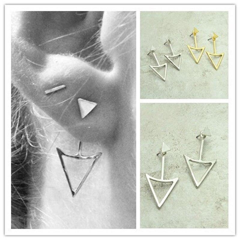 Ювелирные изделия панк треугольник двухсторонний шпильки микс цвет подарок для женщины девочка E2831