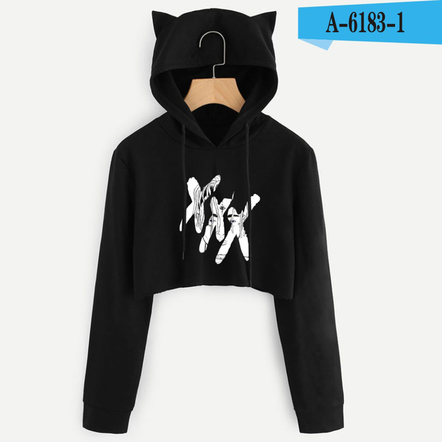 Miss You Xxxtentacion Womens Cat Ear Sweatshirt Sexy Hoodie Cute Crop Tops  Cat Ear Cropped Hooded Pullover Sweatshirt 7a24562421