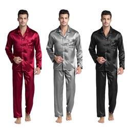 Tony & Candice Мужской Шелковый пижамный комплект Мужская пижама шелковая пижама Мужская сексуальная Современная стильная мягкая уютная