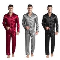 Tony&Candice Men's Stain Silk Pajama Set Men Pajamas Silk Sleepwear Men Sexy Modern Style Soft Cozy Satin Nightgown Men Summer|silk sleepwear men|sleepwear men|sleepwear men sexy -
