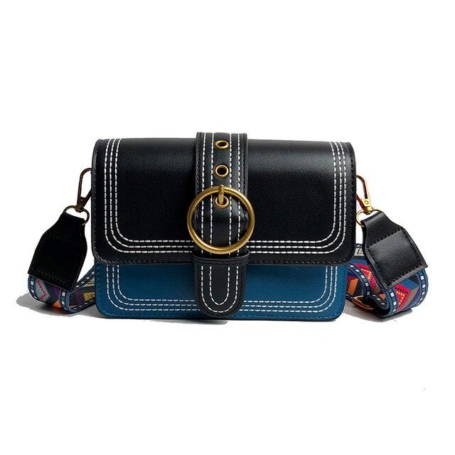 2018 Nova Mulheres Messenger Bag PU bolsas de Couro Cinta Larga Pequeno Saco Crossbody Para Meninas Evening Bag Festa Bolsa de Ombro Com pulseira de cor