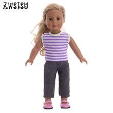 The 2018 new style sportswear for 43cm  baby doll & 18 inch American doll  dolls as the best gift for children