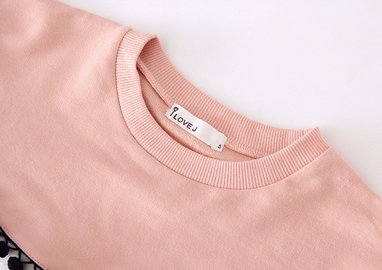 HTB1uxaPIpXXXXcIXFXXq6xXFXXXg - Children Girls shirt tops 2017 Spring Fashion Color patched 100% cotton knitted Snow Ball long-sleeved loose shirts for girls