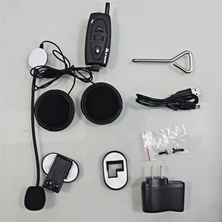 500M Wireless Bluetooth Motorcycle Helmet Intercom for 2 Riders Interphone Earphone Headset 1PcsSet (20)
