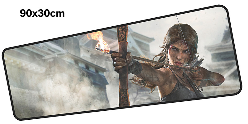 tomb raider mousepad gamer 900x300X3MM gaming mouse pad large present notebook pc accessories laptop padmouse ergonomic mat