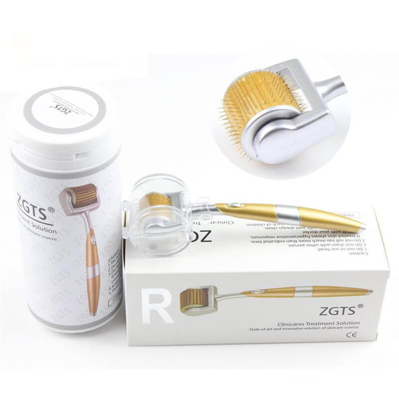 Profissional de Titânio ZGTS Derma Roller 192 agulhas para o rosto cuidados e tratamento da perda de cabelo-Certificado Do CE Provou