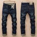 2016 nova cor Sólida de movimento tempo de lazer calças homme pantalon dsq homens jeans robin biker rasgado jeans skinny homens balmai