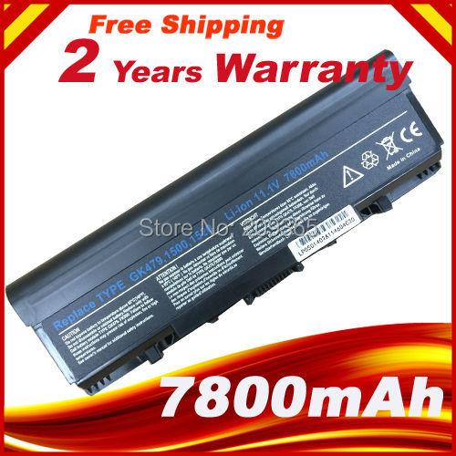 7800 mah Batterie pour Dell Vostro 1500 1700 Pour Inspiron 1520 1521 1720 1721 GK479 GR995 KG479 NR222 NR239 TM980 FK890 312-0520