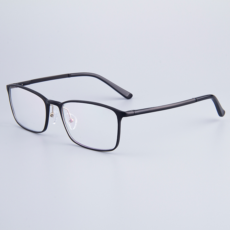 Image 5 - Fashion Full Rim Eyeglasses Frame Brand Designer Business Men Frame Hydronalium Glasses With Spring Hinge On Legs GF521-in Men's Eyewear Frames from Apparel Accessories on AliExpress