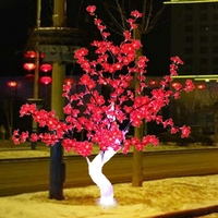 Outdoor Waterproof Artificial 1.2M 4FT Led Cherry Blossom Tree 240LEDs Red Christmas Tree Light for Home Festival Decoration