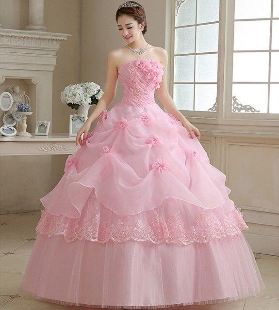 Vestido de Novia de Color 2016 Nueva Colección Rosa Roja Flor ...