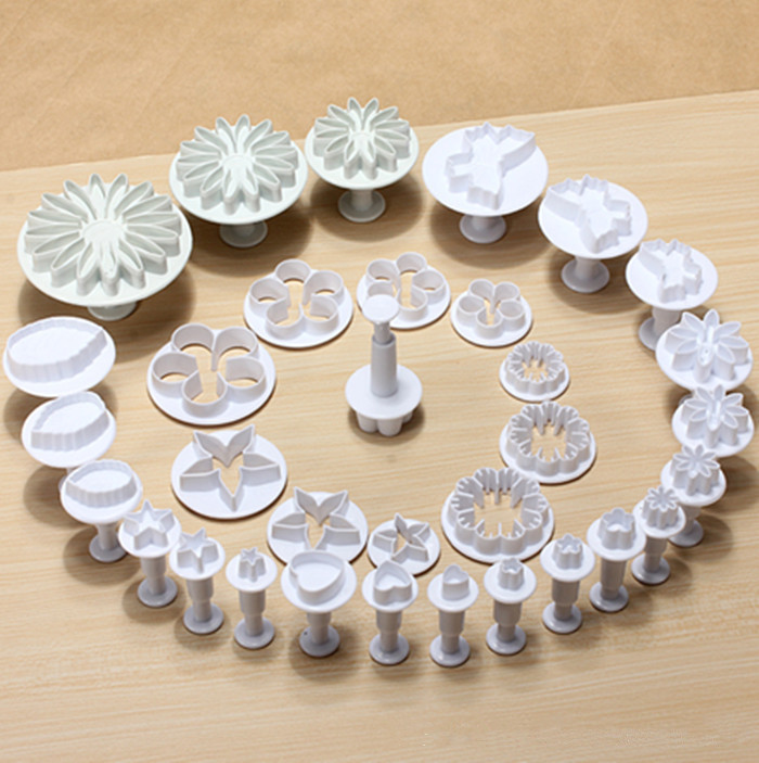 hot sale 46 pcs cake design fondant flower molds herramientas reposteria pastry tools sets DIY cakes home kitchen free shipping in Cake Molds from Home Garden