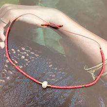 Lucky Red Miyuki Bracelet For Women Delica Simple Pearl Beads Seed MIYUKI Handmade Design Bracelets Luxury Beaded Jewelry Giift