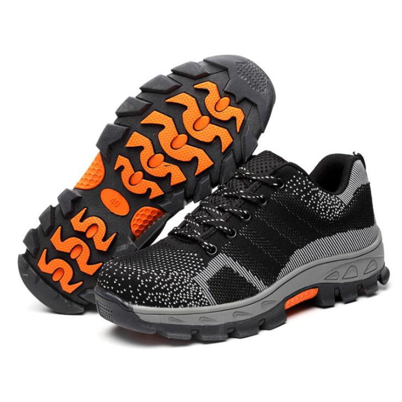 35 46 Outdoor Men Anti slip Steel Puncture Proof Construction Safety Boots Work Shoes Men 39 s Breathable Steel Toe Cap Safety Shoe in Work amp Safety Boots from Shoes