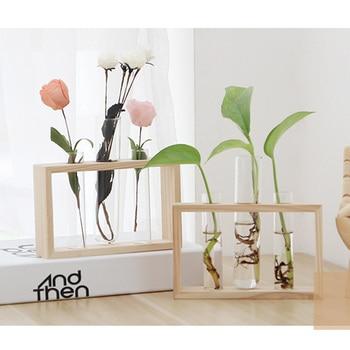 Simple Nordic Glass Flower Vase Tube Bottle Hydroponic Terrarium Container Holder Decor for Bedroom Living Room Home Decoration 1