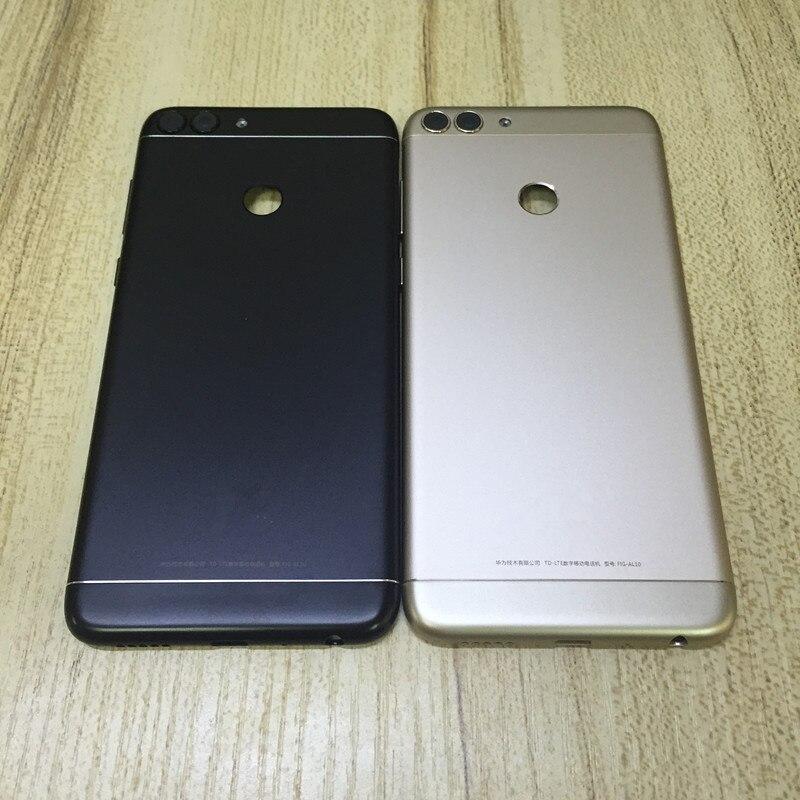 Fingerprint Senor Metal Back Housing For HUAWEI P Smart 2018 Back Cover For Huawei Enjoy 7S Back Battery Door Side Button+Lens