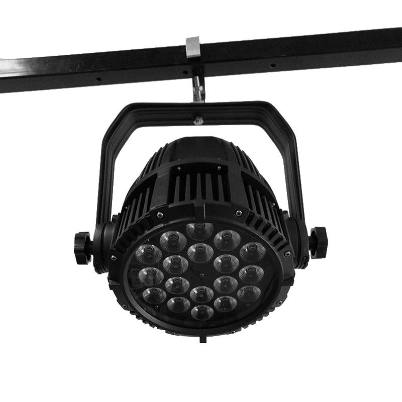 10pcs/lot Waterproof LED Par 18x12W RGBW Stage Effect DMX512 Lighting Waterproof Spotlight Good For Outdoor Swimming Pool