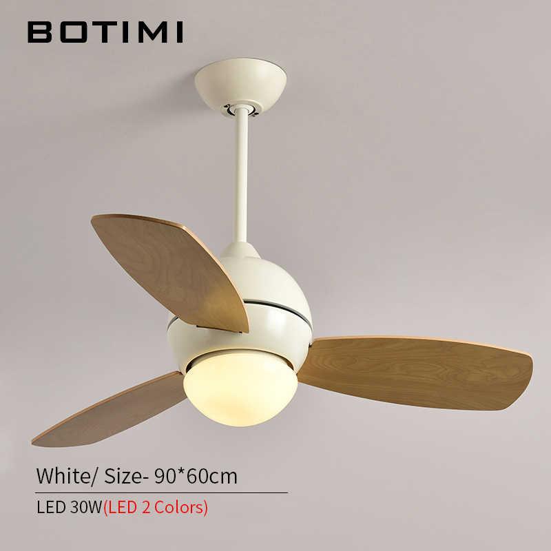 BOTIMI потолок в европейском стиле вентилятор Ventilador De Techo простой гостиной деревянный Ресторан охлаждения потолочные вентиляторы с светодиодный свет