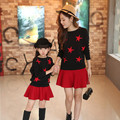 children installed autumn new fashion mother women's children's bat shirt long sleeve sweater skirt mother daughter dresses
