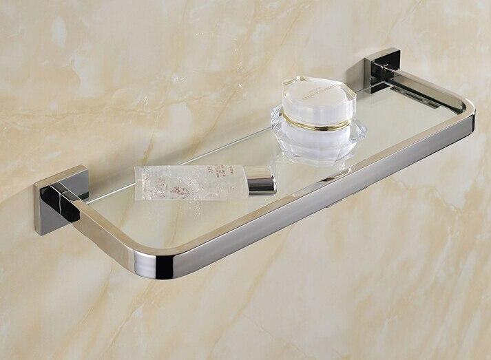 30 cm acier inoxydable 304 salle de bains étagère en verre rack bain douche titulaire salle de bains panier salle de douche aspiration étagère murale