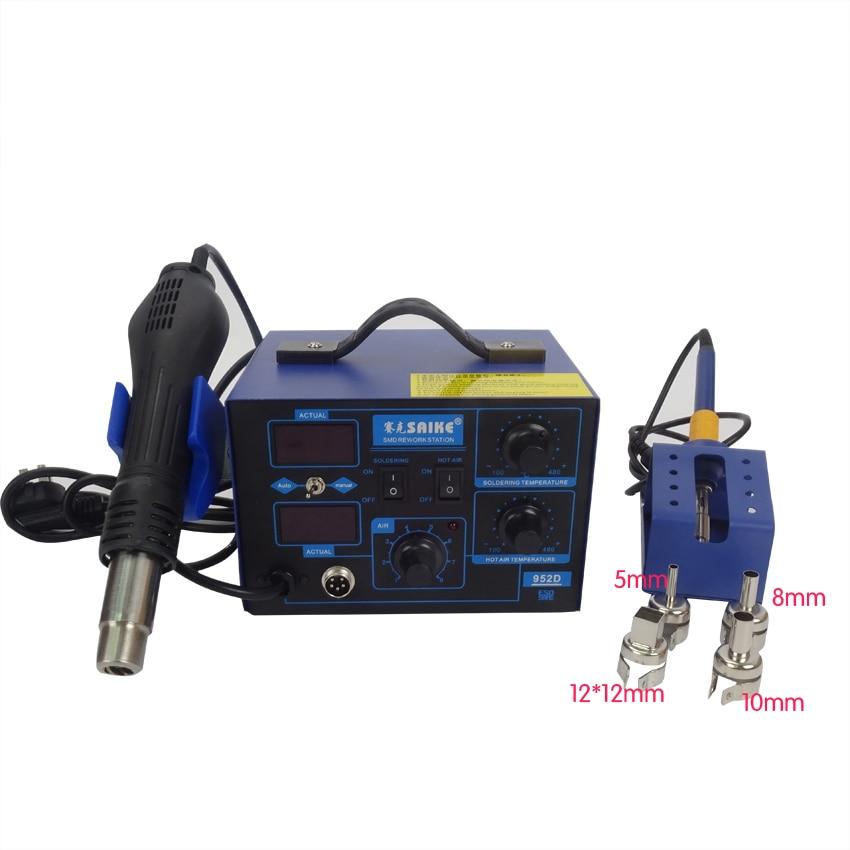1pcs NEW arrival saike 952D rework station hot air gun soldering station 220V or 110V все цены