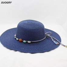 Girl summer beach cap women sun visor straw hat for women floppy panama hats ladies casual wide brim caps female feminino