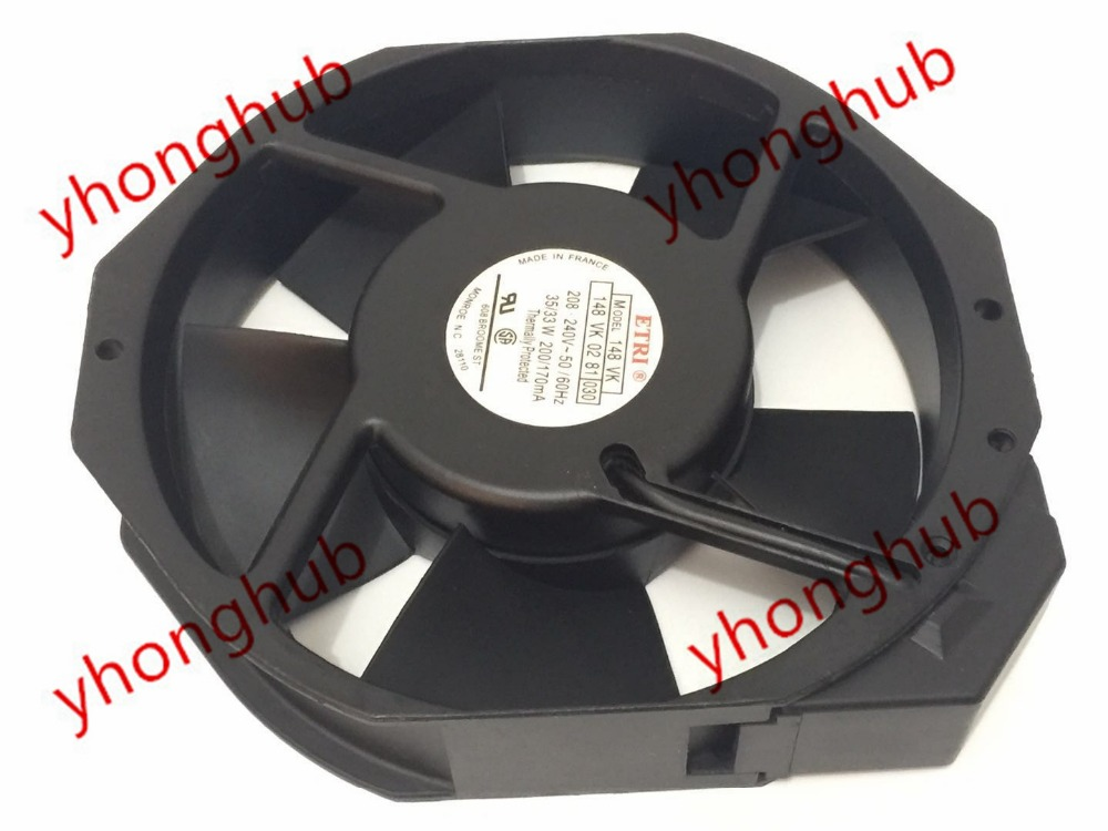 Emacro For ETRI 148VK 148 VK 148VK0281030 AC 208-240V 35/33W 172x172x38mm Server Round Fan emacro for comair rotron pt2b3qdn server round fan ac 115v 30w 172x172x51mm