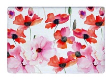 Floor Mat Watercolor Colorful Elegance Poppy Flowers Print Non-slip Rugs Carpets alfombra For Indoor Outdoor Living Room