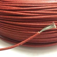 UL3122 16AWG 難燃性高温ワイヤーシリコン編組ケーブルグラスファイバーシリコン錫メッキ軟銅ライン 50 メートル