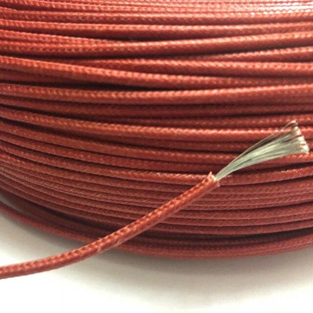 UL3122 16AWG Ritardante di Fiamma Ad Alta Temperatura del Filo di Silicone Intrecciato Cavo In Fibra di Vetro Del Silicone In Scatola di Rame Morbido Linea di 50M