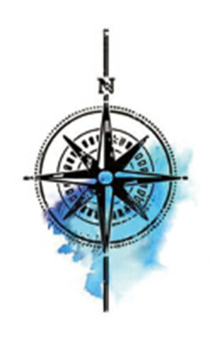 Waterproof Temporary Watercolor Compass Tattoo