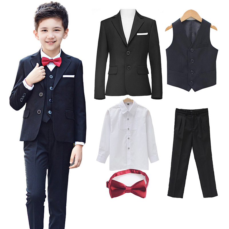 New 5pcs Boys Suits For Weddings Kids Prom Children Clothing Sets Boy Classic Costume Costum For Boys Coat Pant Vest Shirt New 5pcs Boys Suits For Weddings Kids Prom Children Clothing Sets Boy Classic Costume Costum For Boys Coat Pant Vest Shirt