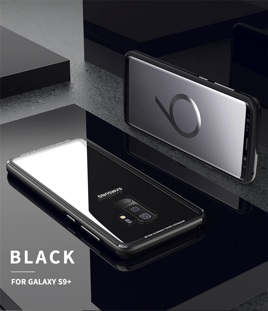 Luxury Aluminum Phone Cases For Samsung galaxy s9 Original R-just Hardness Tempered Glass Cover Case S9 Plus S9+ Accessories (10)