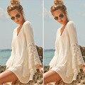 2016 Floral Lace Embroidered Dress Casual Vintage Female Summer Beach Vestidos de Fiesta Festa European Women Dress