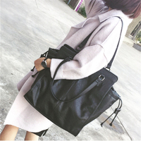 Women Messenger Bags Vintage Simple Women's Leather Handbags Big Size Casual Tote Shoulder Bag For Women Ladies Tote