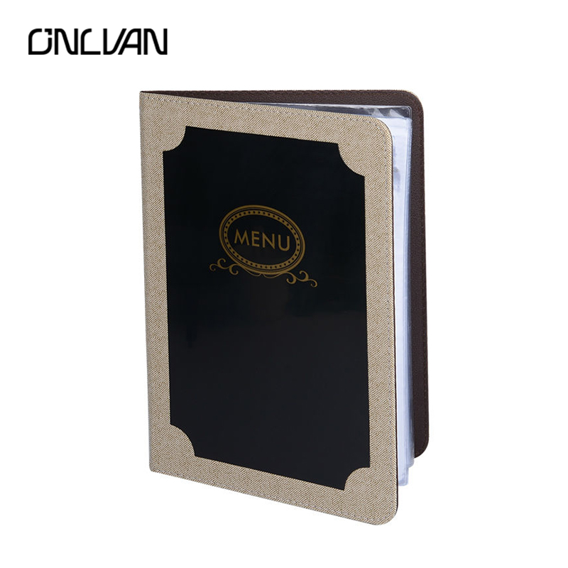 ONLVAN 10Pcs/Lot Restaurant Menu Cover PU Leather Food List Menu Folders Covenience Restaurant Supply Menu Holders List Display pu leather menu holder restautant menu covers custom leather folders pvc page with high quality accept customized order