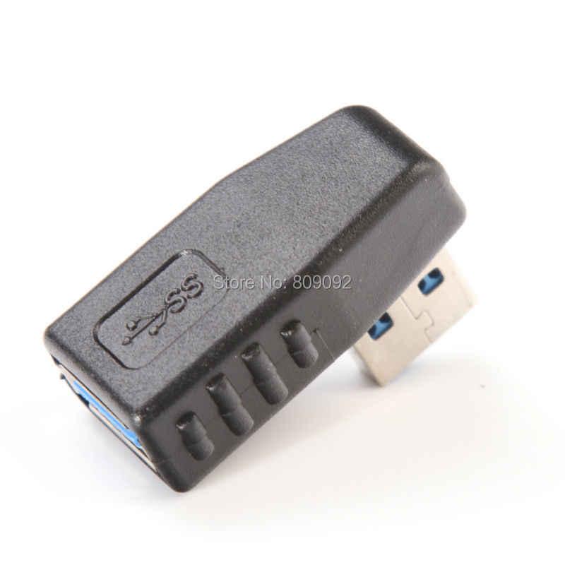 Hoge Snelheid 90 graden USB 3.0 A man-vrouw links of haaks adapter USB 3.0 AM/AF Connector voor laptop/PC