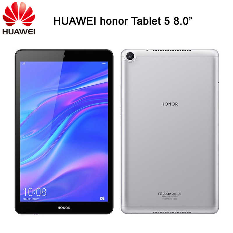 Huawei Honor Tablet 5 Mediapad T5 8 אינץ 32GB / 64GB קירין 710 אוקטה Core OTG 8.0MP פנים מזהה FHD 1200x1920 5100mAh GPU טורבו 2.0