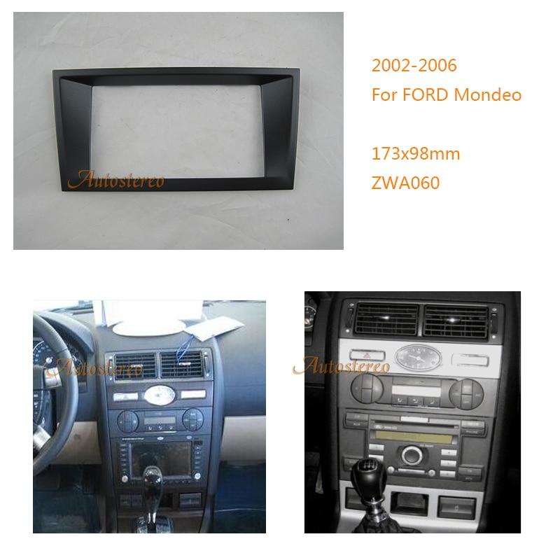 Car Radio Panel Fascia Plate Frame CD for FORD Mondeo 2002-2006 Dash Trim Kits DVD Panel Audio Frame Audio Fitting Adaptor facia