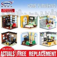 XINGBAO 01401 Genuine 2116PCS Building Series The Living House Set Building Blocks Bricks Educational Toys As