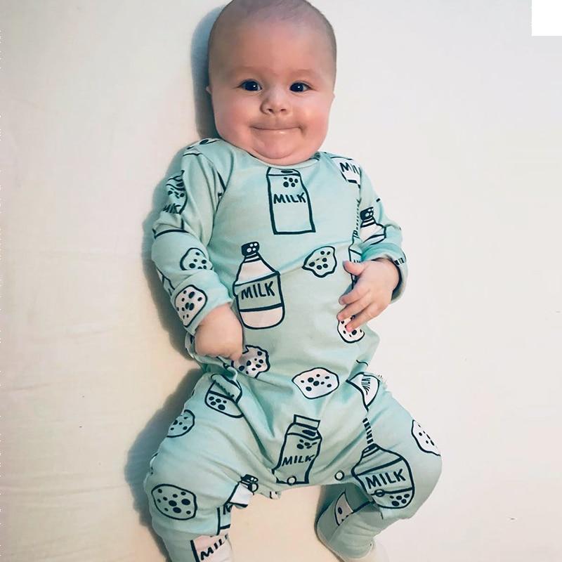 Garrafa de Leite TinyPeople Onesie Macacão de Algodão Recém-nascidos Meninos Meninas Romper do bebê Roupas Infantis Roupas de Bebê Macacão de Manga Longa