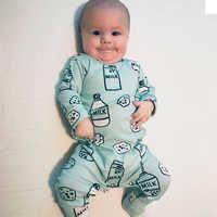TinyPeople Bottiglia di Latte Tutina del bambino Body e Pagliaccetti Cotone Neonato Ragazzi Pagliaccetto Vestiti Delle Ragazze Infantile Del Bambino Dei Vestiti A Maniche Lunghe Tuta