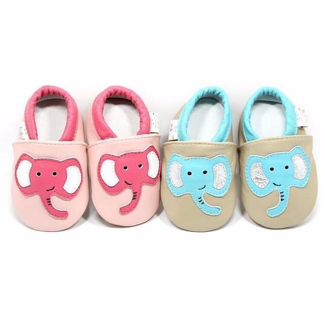 18 colores de Alta calidad de estilo de Dibujos Animados bebé mocasines de Cuero Genuino zapatos de suela suave zapatos de bebé Animal infantil Bebe zapatos