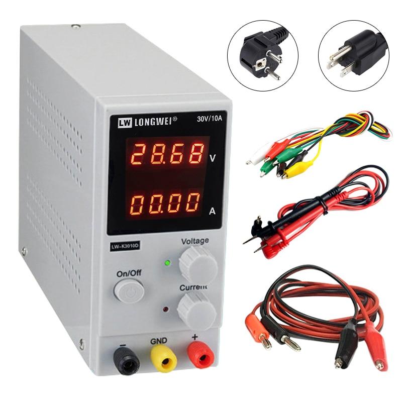 LW 3010D Mini DC Power Supply Adjustable Digital 30V 10A Mobile Phone Repair Voltage Regulator Switching