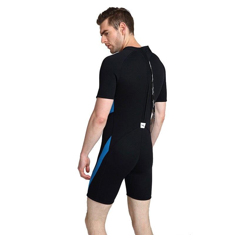 2019 3mm néoprène shorty natation combinaison pour hommes maillot de bain grandes tailles 6XL 5XL maillot de bain noir natation surf plongée combinaison - 5