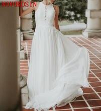 Свадебные платья в богемном стиле с круглым вырезом трапециевидная