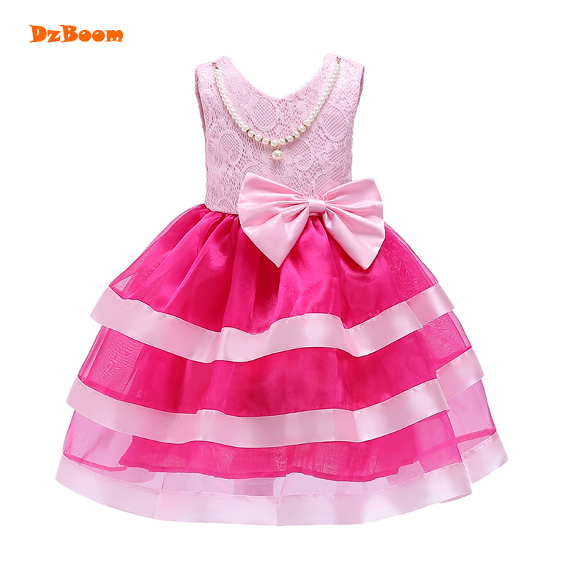 DzBoom Princess Girl Evening Sweet Dresses Cute Big Bow Girls Clothes Toddler Kids Graduation Gown Layered Tutu Birthday Dress chenxi women quartz watches ladies to brand luxury wristwatches clock calendar rose gold wrist watches relogio feminino page 5