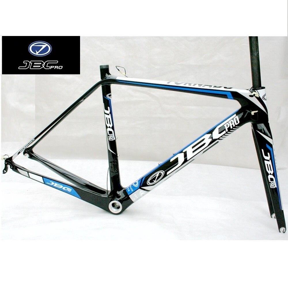JBCpro Tornado T40 Carbon Super Light Road Bicycle Bike Frame 970g Fork 420g Gray Blue 47cm 50cm 53cm