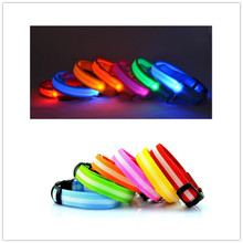PE08 USB Rechargeable Dogs LED Collars  Nylon Pet Dog Collar Night Safety Glow Flashing Dog Cat Collar Led Luminous цена