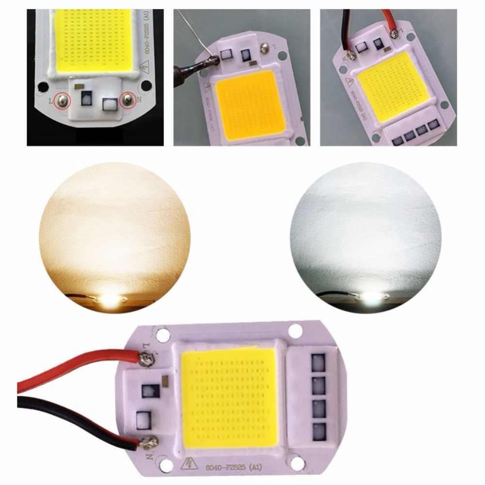 1set Full Spectrum COB LED Grow Light Lamp Chip+Lens Reflector 50W 30W 20W 220V Grow Led Chip For DIY LED Growth Flood Light